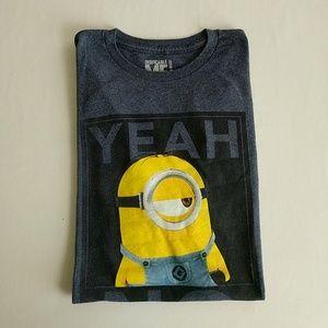 Despicable Me Minion Men's T-Shirt Yeah No Large